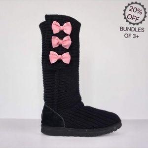 Ugg   Black Tall Sweater Womens Boots   7